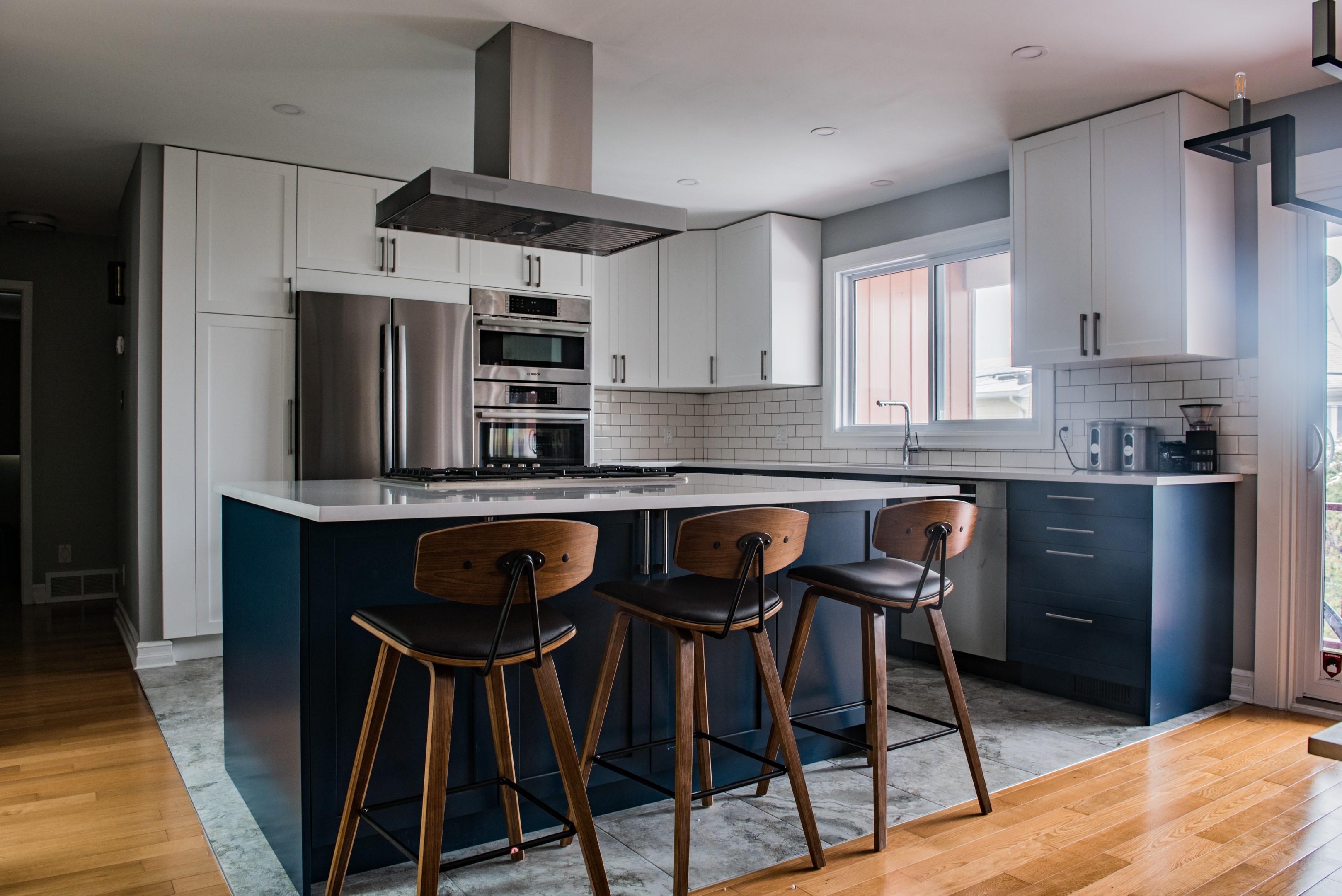 Swedish Door Two Tone Kitchen by Murdock Construction