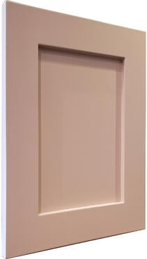 Swedish Door AART Shaker Painted Setting Plaster Angled